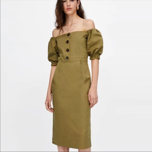 1f857dc566 ASOS Dresses | Off The Shoulder With Puff Sleeves Dress | Poshmark